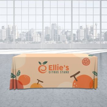 4FT Trade Show Table Cover - All Over Imprint