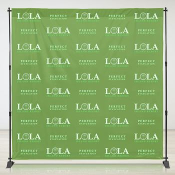 8ft x 8ft Step & Repeat Fabric Banner