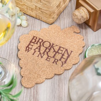 "Coaster Cork 1/8"" Custom Shape"