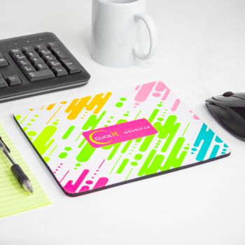 Fluorescent Neon Custom Printed Medium Mouse Pads