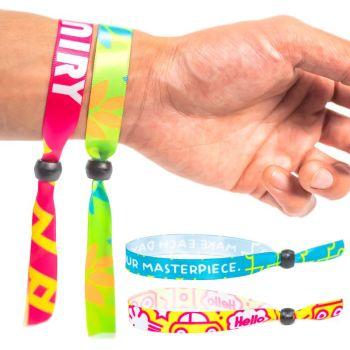 Fluorescent Neon Full Color Cloth Wristbands