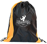 Custom Two Tone Wavy Drawstring Bags