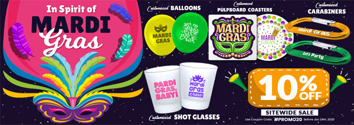 Mardi Gras - Promotional Products 2020