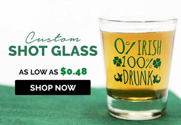Saint Patrick Custom Shot Glasses