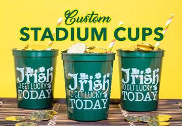 Saint Patrick Custom Stadium Cups